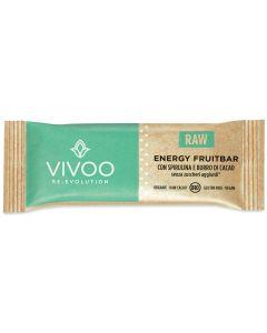 Energy fruitbar con spirulina e burro di cacao 35 g BIO senza glutine  (min. acquisto 10 pezzi)