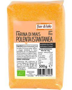 Farina di mais per polenta istantanea 500 g BIO senza glutine  (min. acquisto 10 pezzi)