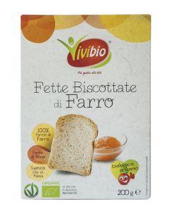 Fette Biscottate di Farro 200g BIO - Vivibio