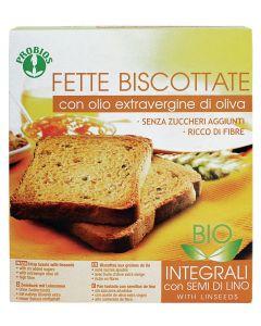 Fette biscottate Integrali con olio extravergine semi di lino 270g BIO