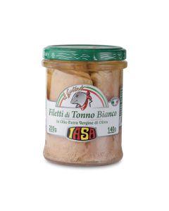 Filetti di tonno bianco in olio extravergine di oliva Iasa 200 g BIO (min. acquisto 6 pezzi)