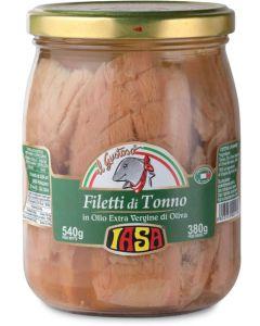 Filetti di tonno in olio extravergine di oliva 540 g BIO  (min. acquisto 6 pezzi)
