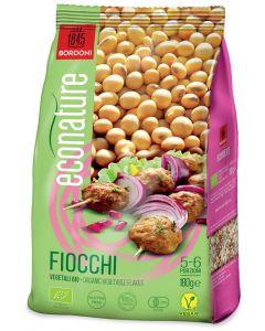 Fiocchi di soia - alimento a base di farina di soia estrusa, ottenuta da semi di soia pressati a freddo 180 g BIO senza glutine  (min. acquisto 10 pezzi)