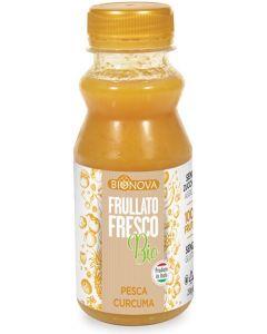 Frullato fresco 100% frutta pesca curcuma 250 ml BIO  (min. acquisto 10 pezzi)