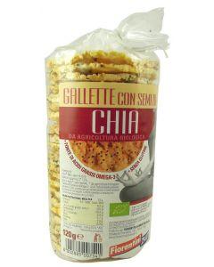 Gallette con semi di Chia 120g BIO senza glutine
