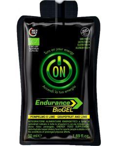Gel endurance - senza caffeina - ai pompelmo e lime 50 g BIO senza glutine