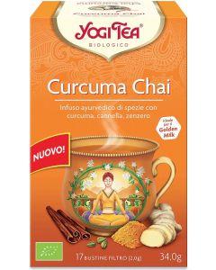 Infuso ayurvedico di spezie Curcuma Chai con zenzero 34 g BIO (min. acquisto 10 pezzi)