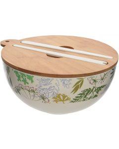 Insalatiera verde in bambù 840 g (min. acquisto 6 pezzi)