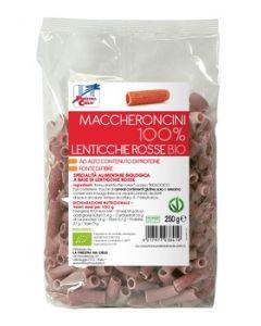 Maccheroncini 100% lenticchie rosse 250 g BIO
