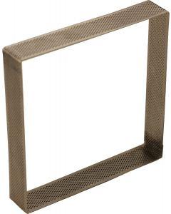 Quadrato inox forato 15cm (professionale)