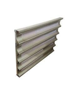 Teglia ondulata in alluminio, Forata con 5 canali 60x40