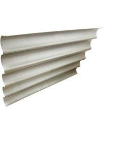 Teglia ondulata in lamiera, 5 canali (s.l.c), 60x40
