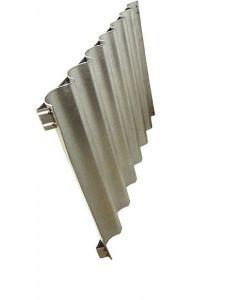 Teglia ondulata in lamiera, 7 canali (s.l.l), con rinforzi, 60x40