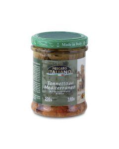 """Tonnetto del Mediterraneo """"Pescato Italiano"""" Iasa 200 g - 140 g sgocc. BIO (min. acquisto 6 pezzi)"""