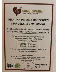 Gelatina in Fogli Topo Oro 300/kg 1kg