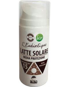 Latte solare spf 15 150 ml BIO  (min. acquisto 6 pezzi)