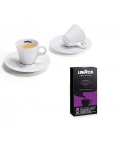 """Lavazza """" VIGOROSO"""" 300 capsule caffè compatibili Nespresso + tazza in regalo"""