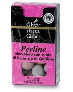 Perline di cioccolato e liquirizia 25 g BIO  (min. acquisto 10 pezzi)